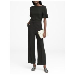 BANANA REPUBLIC Flutter-Sleeve Cropped Jumpsuit